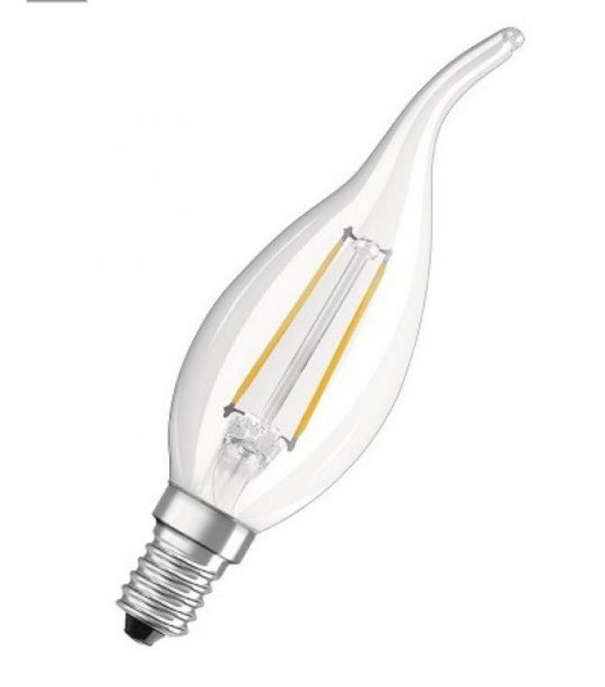 OSRAM | E14 свеча на ветру  4W/827  филаментная лампа LED SCL BA40 Osram 4058075055452
