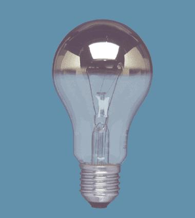 OSRAM   E27 40W A DECOR SILVER A лампа накаливания Osram DECOR A SILV 40 910222