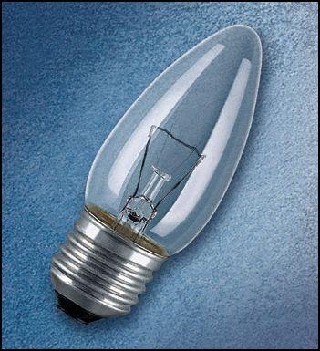 OSRAM | E27 свеча 40W CLASSIC B CL  лампа Osram 332215