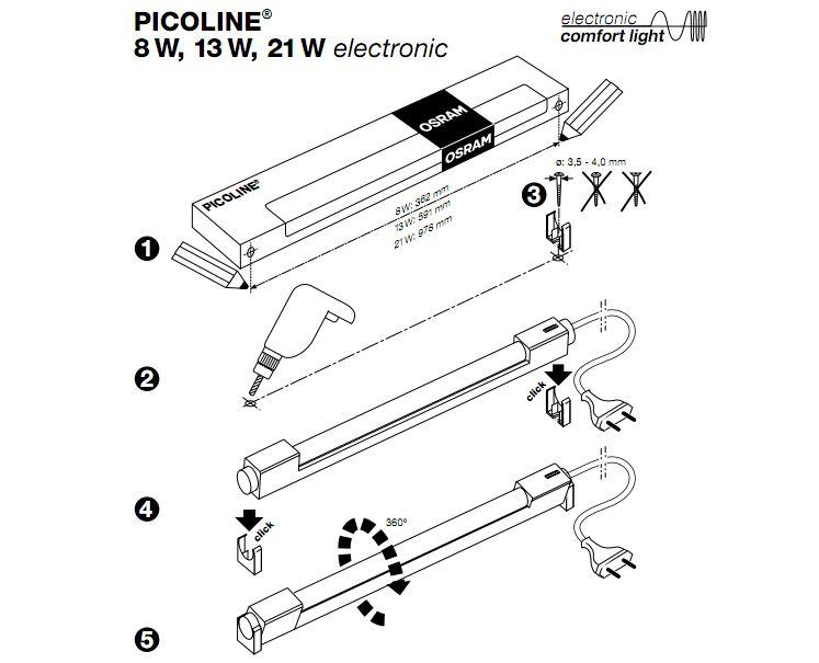 OSRAM   Светильник Picoline 978mm 21W art 72043 Osram 593975