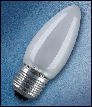 OSRAM | E27 свеча 60W матовая  лампа B35 FR Osram