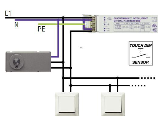 OSRAM | DALI  TOUCH DIM LS/PD LI (4 DALI ЭПРА 10-1200 Lux) програмируемый датчик движения света Osram
