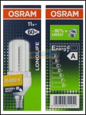 OSRAM | E14 11 (=54)W/825 DULUX EL LL лампа art 811451 Osram