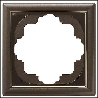 GIRA | 211602 СНЯТО Рамка 1-местная перламутр коричневый S-Classic Gira