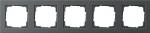 GIRA | 021523 Рамка 5-местная антрацит E2 Gira
