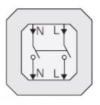 GIRA | 010200 Двухполюсный выключатель 10/250 Gira