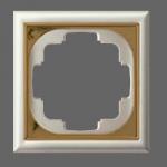 GIRA | 213601 Рамка 3-местная перламутр белый Gira