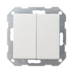 GIRA | 012827 Выключатель 2кл с самовозв. двойной перекл. мат. бел. Standart 55 Gira
