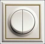 GIRA | 125601 Выключатель 2кл с самовозв белый S-Classic Gira