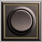 GIRA | 126602 СНЯТО Выключатель 1кл с самовоз унив коричневый метал. S-Classic Gira