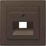 GIRA | 270602 Накладка розетки UAE/IAE и розетки подключения к сетям Rutenbeck коричневый перламутр Gira