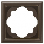 GIRA | 212602 СНЯТО Рамка 2-местная коричневый  перламутр S-Classic Gira