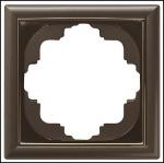 GIRA | 213602 СНЯТО Рамка 3-местная перламутр коричневый Gira