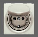 GIRA | 454601 СНЯТО Розетка с з/к и откидн.крыш перламутр белый S-Classic Gira