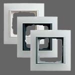 GIRA   021450 Рамка 4-местная матовый белый алюминий вст Event Gira