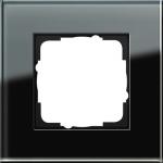 GIRA   021105 Рамка 1-местная стекло черное Esprit Gira