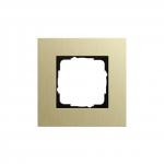 GIRA   0211217 Рамка 1-местная аллюминий светлое золото Esprit Gira