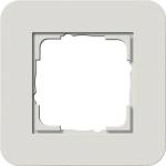 GIRA | 0211411 Рамка одинарная светло-серый/белый глянцевый E3 Gira