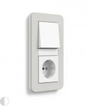 GIRA | 0212411 Рамка двойная светло-серый/белый глянцевый E3 Gira