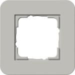 GIRA | 0211412 Рамка одинарная серый/белый глянцевый E3 Gira