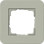 GIRA | 0211415 Рамка одинарная серо-зеленый/белый глянцевый E3 Gira