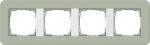 GIRA | 0214415 Рамка четырехкратная серо-зеленый/белый глянцевый E3 Gira