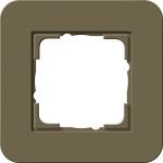 GIRA | 0211416 Рамка одинарная дымчатый/белый глянцевый E3 Gira