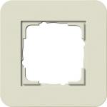 GIRA | 0211417 Рамка одинарная песочный/белый глянцевый E3 Gira