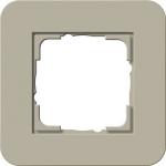 GIRA | 0211418 Рамка одинарная серо-беж./белый глянцевый E3 Gira