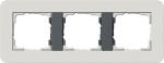 GIRA | 0212421 Рамка двойная светло-серый/антрацит E3 Gira