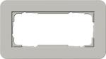 GIRA | 1002412 Двойная рамка без перегородки серый/белый глянцевый E3 Gira