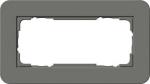 GIRA | 1002413 Двойная рамка без перегородки темно-серый/белый глянцевый E3 Gira