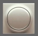 GIRA | 650601 СНЯТО Накладка с кнопкой к светорегул. и эл. потенциометр белый S-Classic Gira