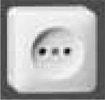 GIRA | 47013 Розетка накладная белая  без з/к Gira