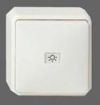 GIRA   015613 Вставка 2 клавишная кнопочная переключателя с пиктограммой 1-полюсной белый Gira
