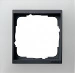 GIRA | 021124 Рамка 1-местная матовый белый антрацит Event Gira