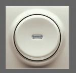 GIRA | 290601 СНЯТО Клавиша с контр. окном выключателя  для кл./кн. выкл. перламутр белый S-Classic Gira
