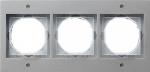 GIRA | 021365 Рамка 3-месная аллюминий TX-44 Gira