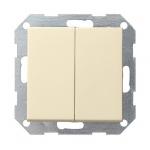 GIRA | 012501 Выключатель с самовозвратный  2кл глянц кремовый 10A/250V Gira