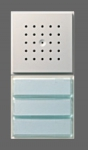 GIRA   126065 Дверная станция для скрытого монтажа белый подсветка аллюминий Gira