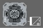 GIRA   018400 Кнопочный  шинный соединитель одноклавишный, 2-полюсный со светодиодом KNX Gira
