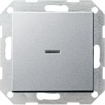 GIRA | 012226 Выключатель с самовозвр. с подсв. 2-полюс  алюм. 10/250 Gira