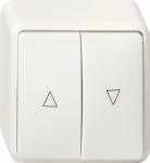 GIRA | 015913 Выключатель для управления жалюзи IP20 (клавишный) чисто-белый Gira