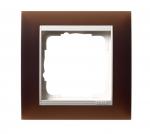 GIRA | 0211331 Рамка 1-местная коричневый белый Event Gira
