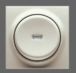 GIRA | 290602 СНЯТО Клавиша с контр. окном выключателя для кл./кн. выкл. теин.коричневый  S-Classic