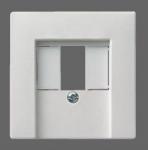 GIRA | 027603 Накладка к роз TAE и роз подкл. стереоф акуст сист USB гл.белый Gira