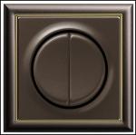 GIRA | яяяя125602 Выключатель 2кл с самовозв коричневый S-Classic Gira