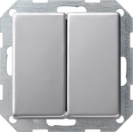GIRA | 0125203 Выключатель 2кл с самовозв алюминий E22 Gira