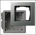 GIRA | 2884203 Рамка 4-местная cо спец монтажной коробкой  аллюм E22 Gira