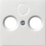 GIRA | 0869112 Накладка антенной  розетки (спутник) глянец.белый F100 Gira